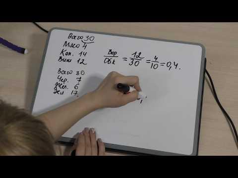Часть 1, задание №9. Теория вероятности. ОГЭ по математике 2019.