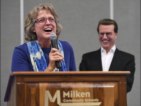 It's a 2017 Jewish Educator Award for Milken Community Schools' Melody Mansfield