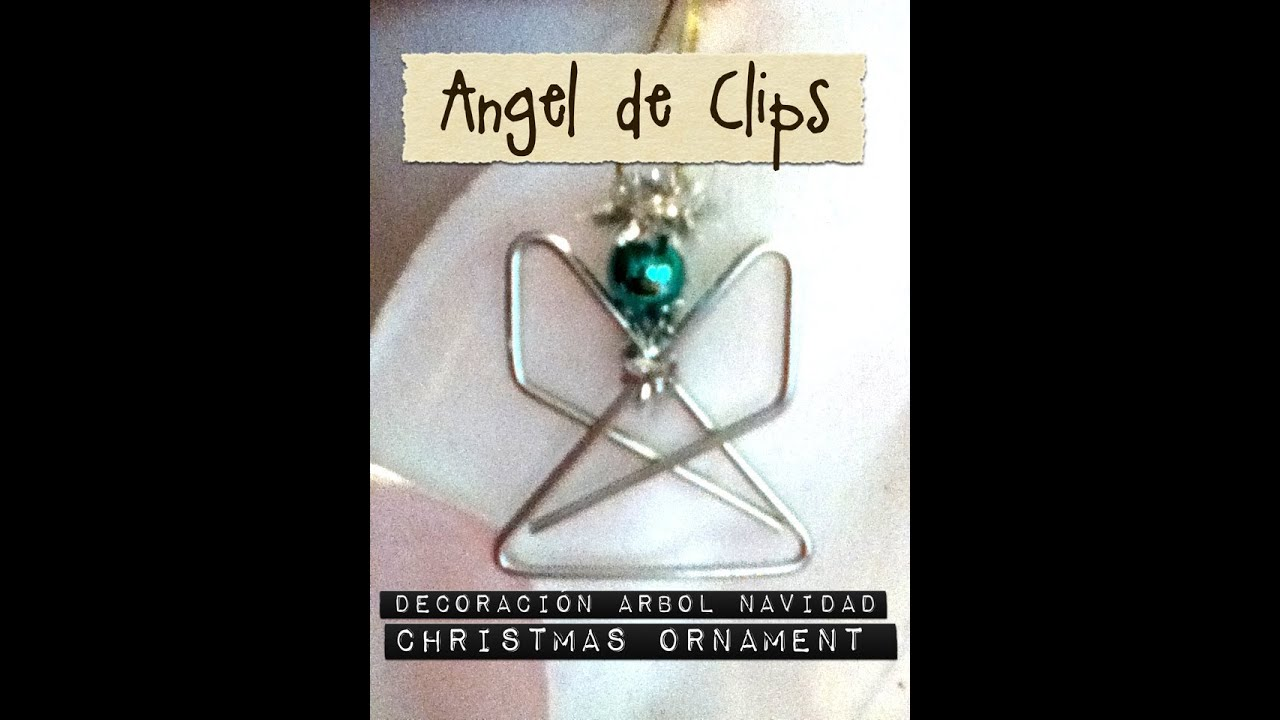 Decoraci n de rbol de navidad con clips grandes y limpia - Decoracion arboles de navidad ...