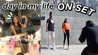 day in my life ON SET | Nicole Laeno