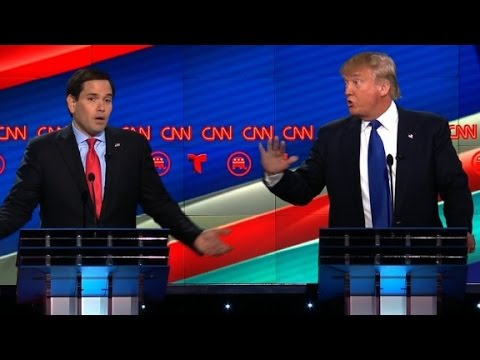 Marco Rubio and Donald Trump's vicious debate battle
