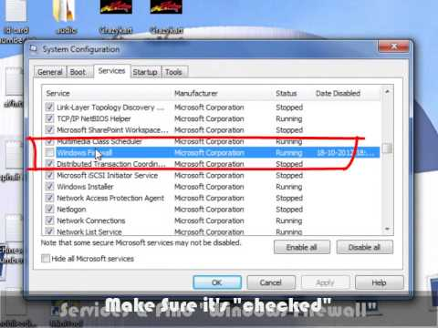 How to fix windows firewall & windows could not setup internet connection sharing (ICS)
