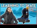 Girl Learns Her First Skateboard Trick (MUST SEE)