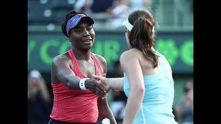 2018 Miami Fourth Round   Johanna Konta vs. Venus Williams   WTA Highlights