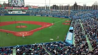 Tokyo Yakult Swallows - Tokyo Ondo (東京音頭) during 7th Inning (March 21, 2015)
