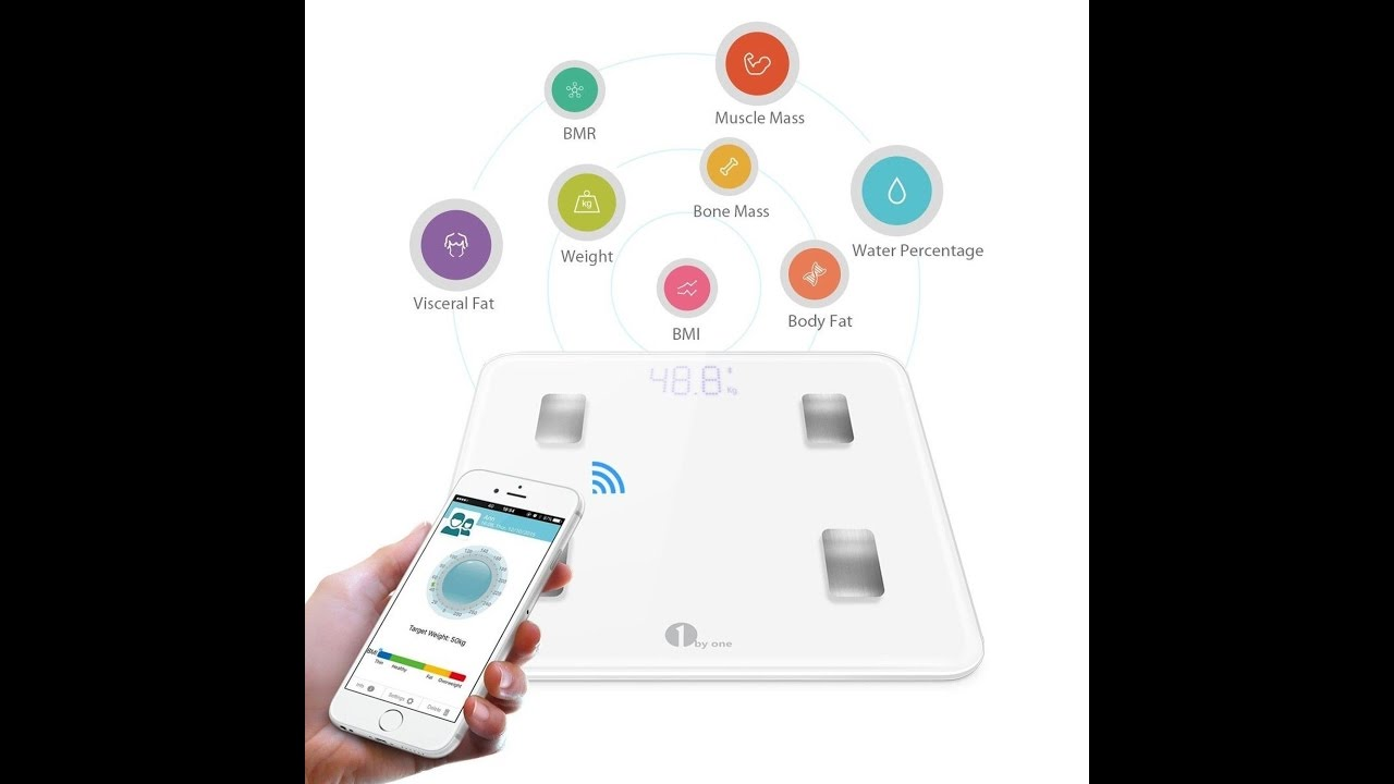 1byone Digital Smart Scale Body Bathroom Wireless Ios And Android