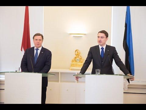 Peaminister Rõivase ja Läti peaminister Kučinskis'e pressikonverents 02.03.2016