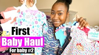 First Baby Haul for Baby #2| New Born and 0-3 Month