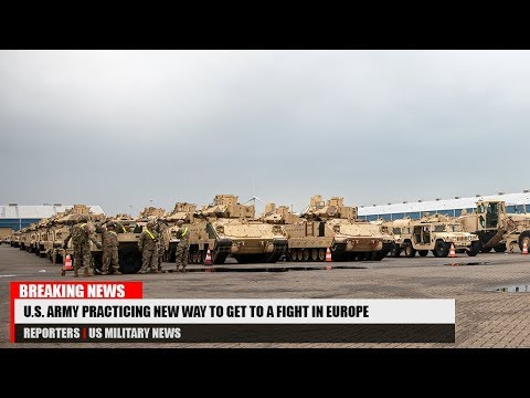 U.S. Army Practicing New Way To Get To A Fight In Europe