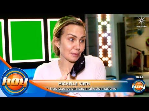 La presión de #LasEstrellasBailanEnHoy hizo que Michelle Vieth se sintiera mal esta mañana | Hoy