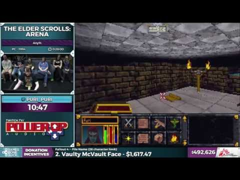 The Elder Scrolls: Arena by Puri_Puri in 25:31 - SGDQ 2016 - Part 120