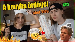 A KONYHA ÖRDÖGEI - Chef Vlog ft. Kitty