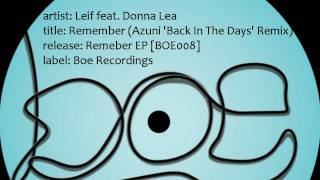 Leif feat. Donna Lea - Remember (Azuni