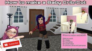 Bloxburg || How to make a baby Crib EASY!! || ROBLOX