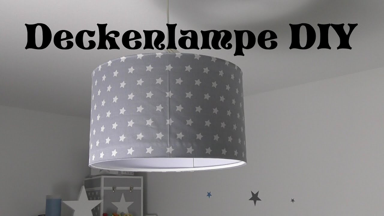 kinderzimmer deckenlampe selbst gestalten diy tutorial anncooki youtube. Black Bedroom Furniture Sets. Home Design Ideas