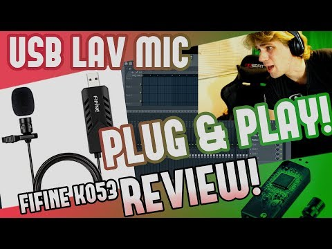 Plug & Play $18 USB Lavalier Microphone Review! | FIFINE K053