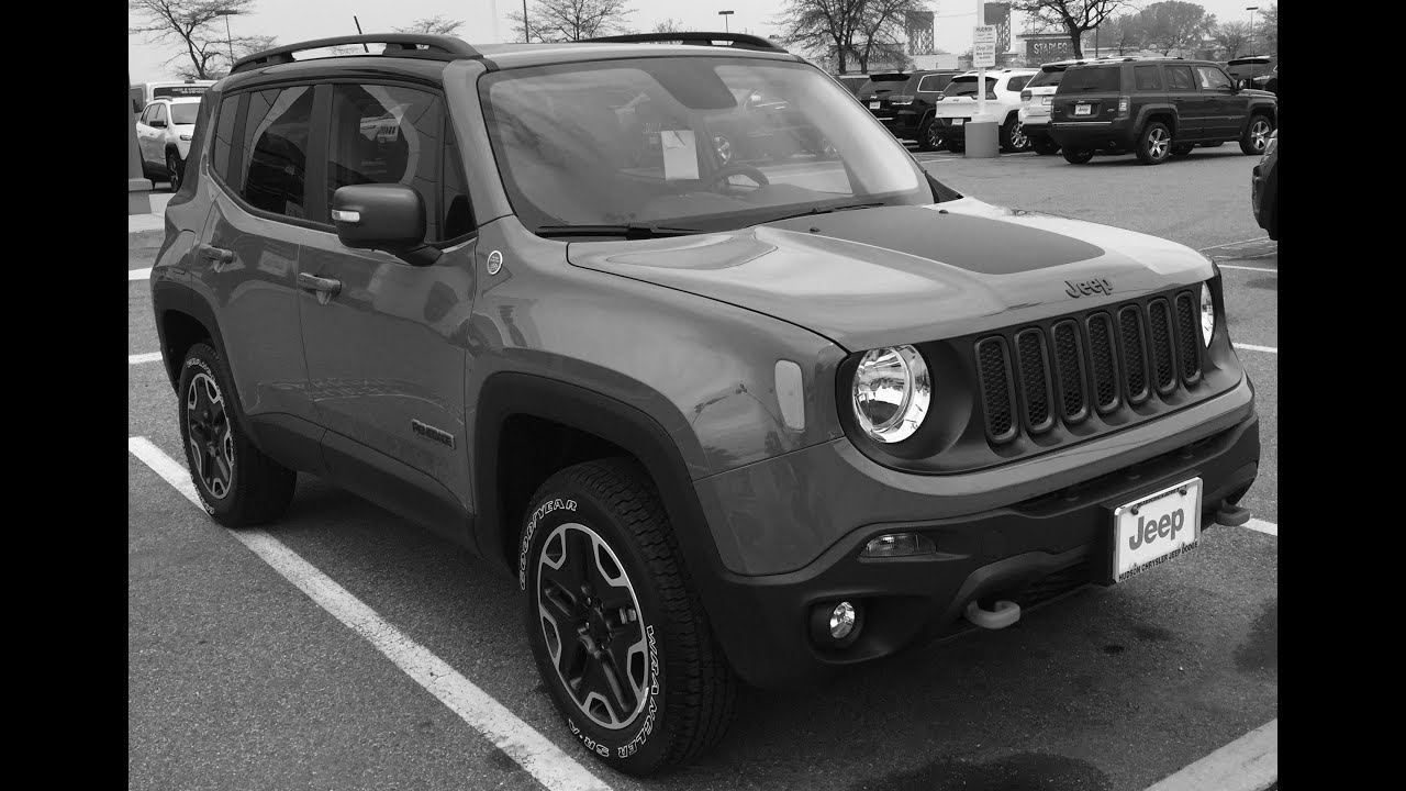 My 2016 Jeep Renegade Trailhawk 4x4 Anvil Color - YouTube
