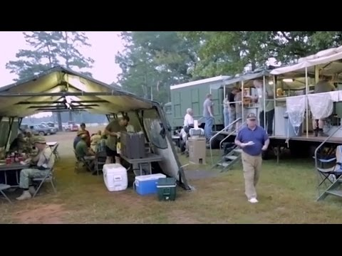Volunteer Feeds First Responders Using Kitchen Trailer from GovLiquidation.com