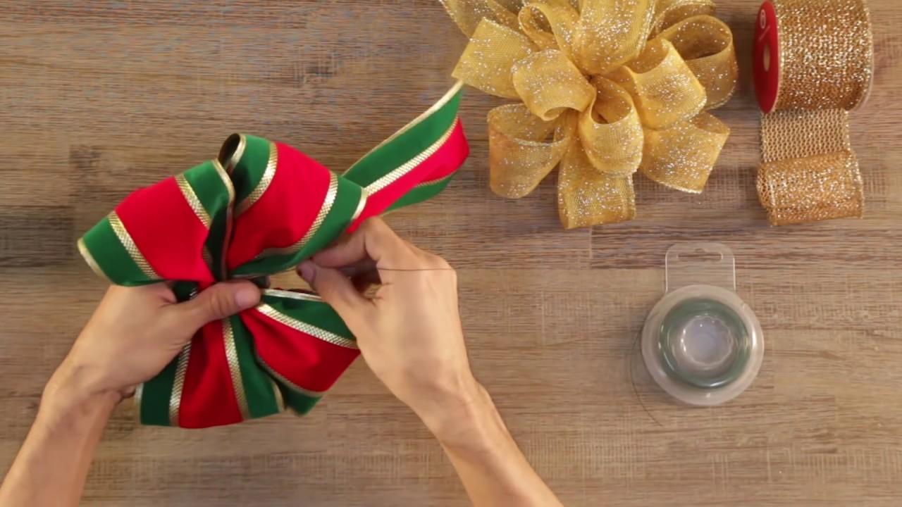 Imagenes Lazos De Navidad.Tutorial De Lazos Navidenos