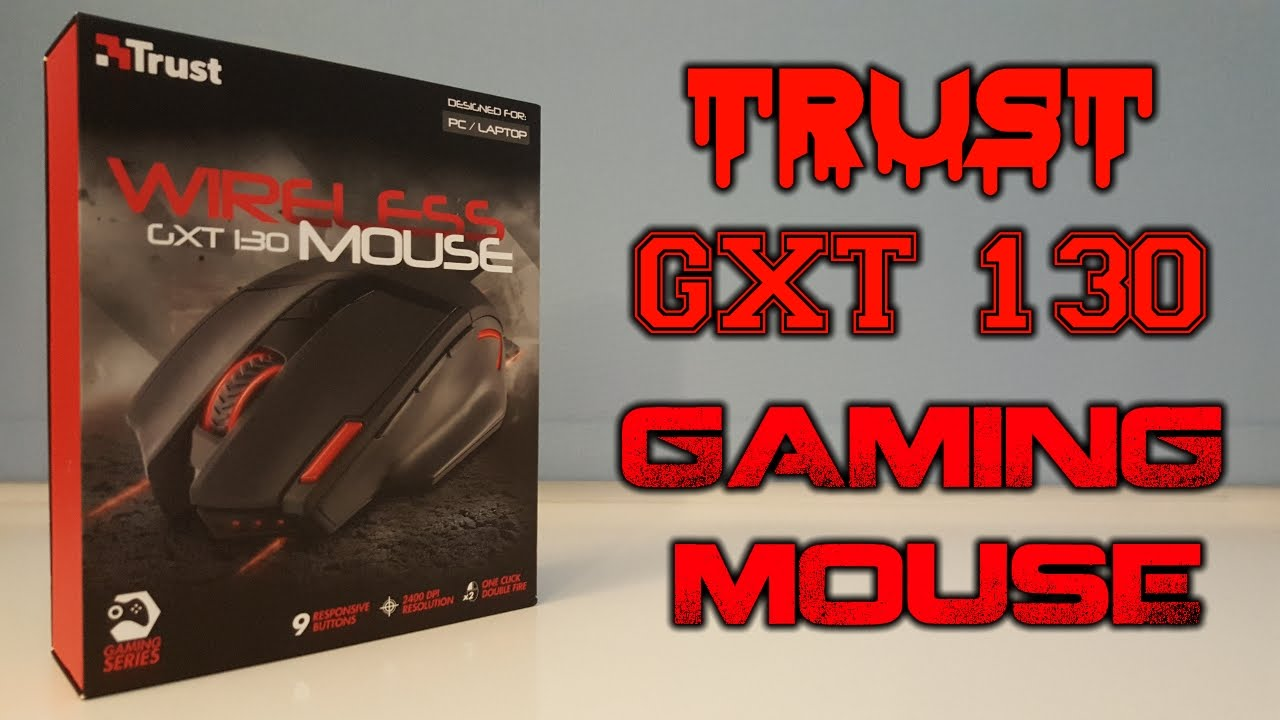 5bd1fb77e57 Trust GXT 130 Wireless Gaming Mouse Unboxing - YouTube