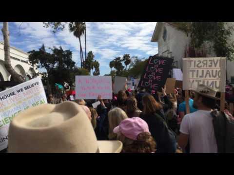 Women's March on Santa Barbara 01/21/2017