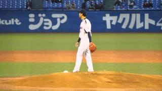 2005年4月9日神宮球場 東京ヤクルトスワローズ 今季初登板の新垣渚投手...