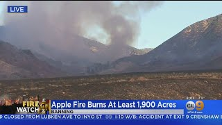 Apple Fire Burns At Least 1,900 Acres, 1 Home Destroyed