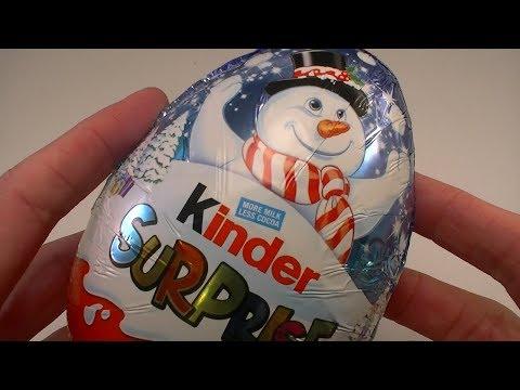 HUGE Kinder Surprise Egg Christmas Egg 2017 Surprise Egg Opening MAXI