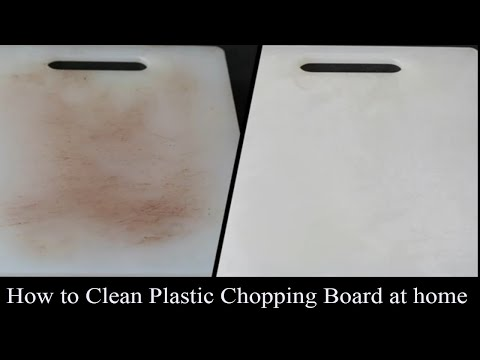 How to remove stains from plastic cutting board|chopping board cleaning method in hindi.