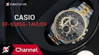 Mở hộp đồng hồ Casio Edifice EF-558SG-1AVUDF: Mạnh bạo và hầm hố