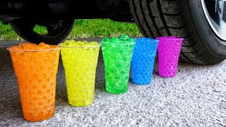 Crushing Crunchy & Soft Things by Car! Experiment Car vs Cola, Sprite Slime Car Toys