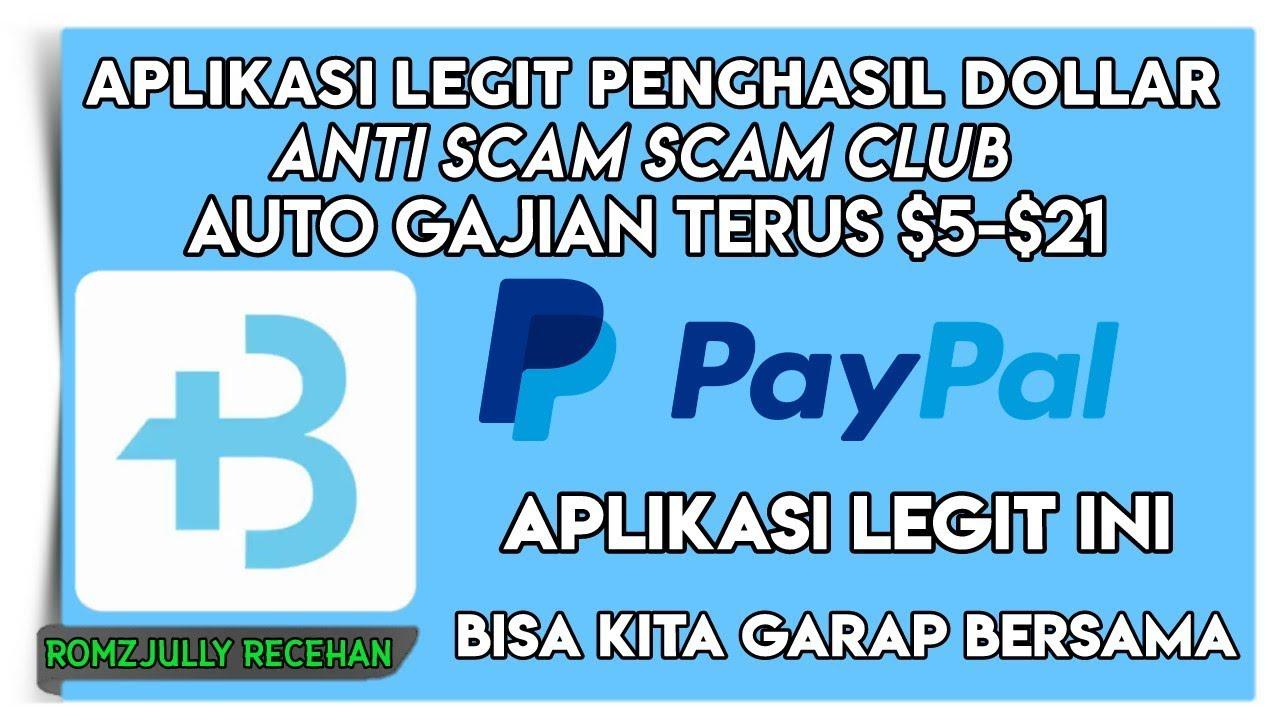 Aplikasi Legit Penghasil Dollar Anti Scam Scam Club Auto Gajian