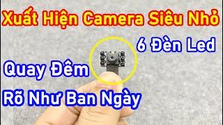 Xuất Hiện Camera Siêu Nhỏ V99xpro 6 led Đèn Hồng Ngoại Quay Đêm - Giám Sát Từ Xa Qua Điện Thoại