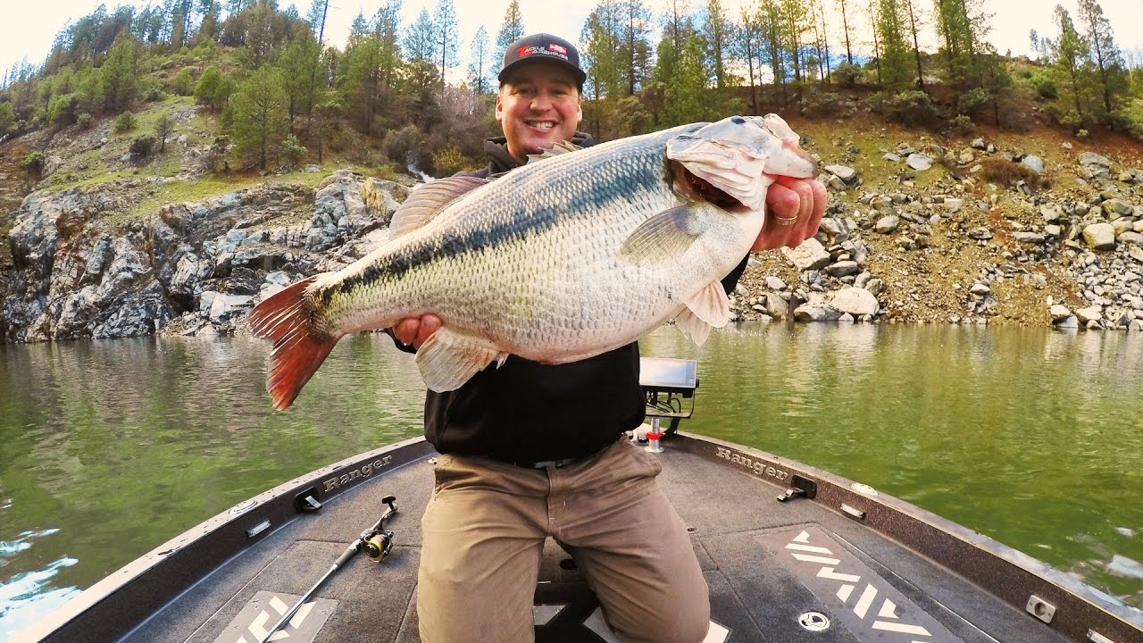 Cody meyer 39 s potential world record spotted bass youtube for Bullards bar fishing report