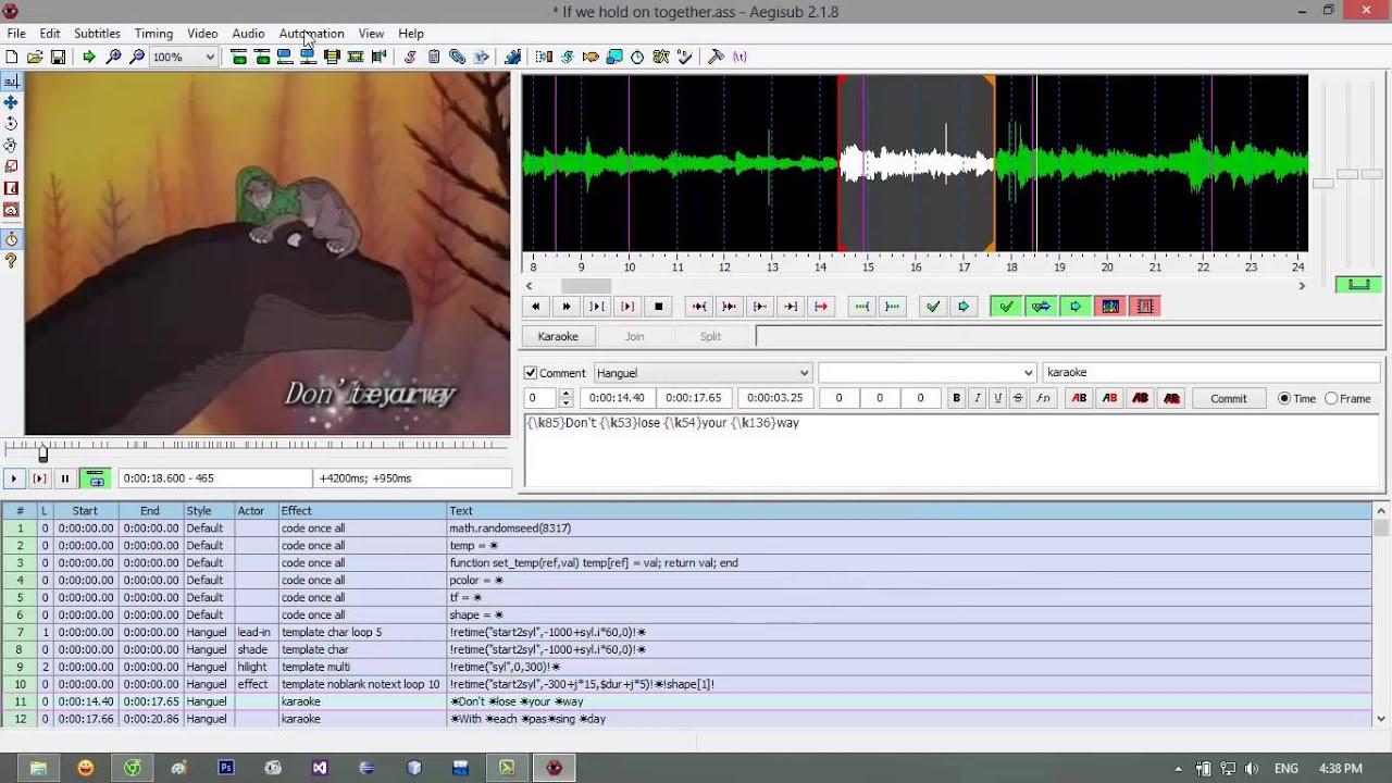 Trả lời thắc mắc làm subtitle với Aegisub – Subtitle đẹp cho clip – by Tùng Huynh