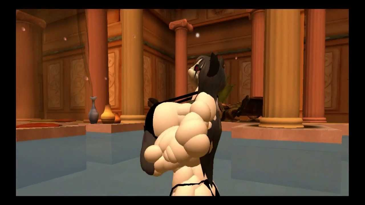 3d muscle growth animation - 3 part 4