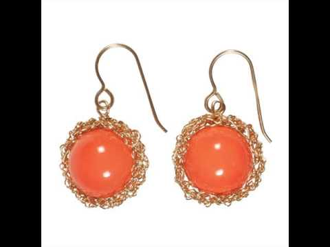 Coral Earrings Vintage Coral Jewelry Set For Women Youtube