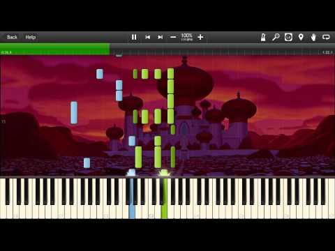 Aladdin - Arabian Nights - Synthesia Piano Solo Tutorial
