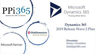 Dynamics 365 - 2019 Release Wave 2 Plan