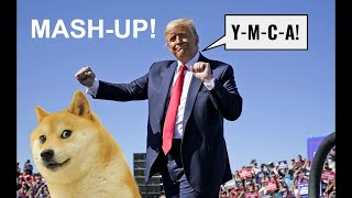 Trump Dancing to YMCA! (Lot's of Clips!) YMCA Mash-Up!