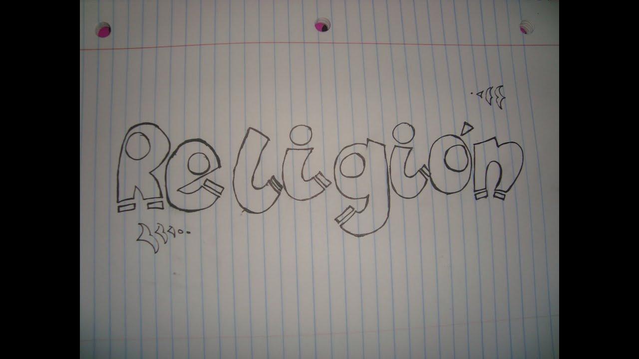 Ideas Para Realizar Tipos De Letras Para Títulos De Tus Cuadernos Religión