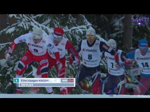 Устюгов победил в скиатлоне на чемпионате мира по лыжным гонкам в Лахти