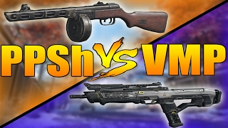 PPSh VS VMP (Call of Duty Black Ops 3 SMG Weapons Versus)