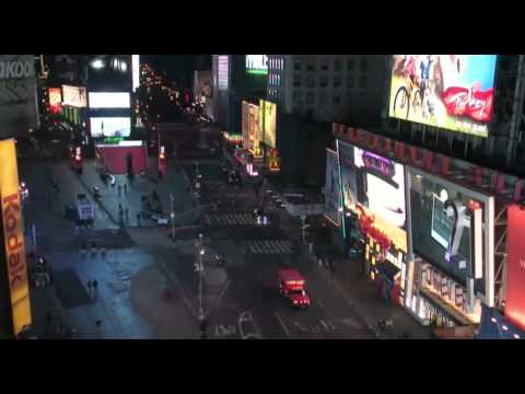 Timelapse 30min to 1min - Times Square, NYC 2013 - WEBCAM 2013-03-31