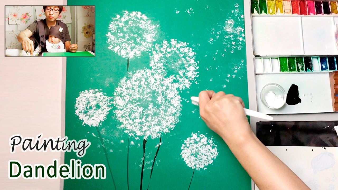Dandelion Painting Techniques For Beginners