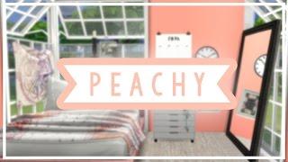 The Sims 4: Speed Build | PEACHY BEDROOM + FULL CC LIST!!