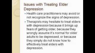 Talking with Dolores: Elder Mental Health, Depression, and Suicide