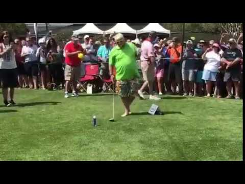 John Daly Smashes Ball off Beer Can at Monday After the Masters