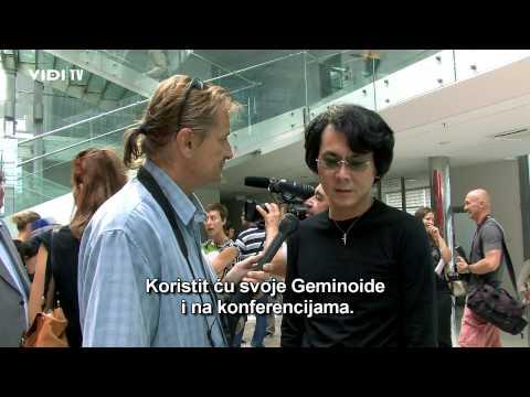 Human Robot Interaction: Hiroshi Ishiguro na Interact 2012 - Rijeka