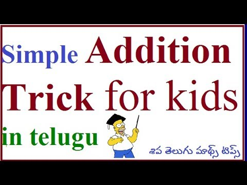 How To Teach A Child To Add Numbers Simple Addition Trick For Kid